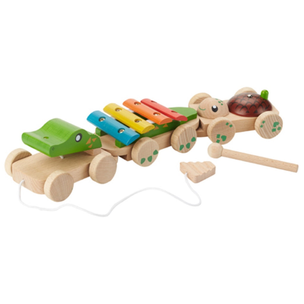 Everearth Pullalong Musical Crocodile