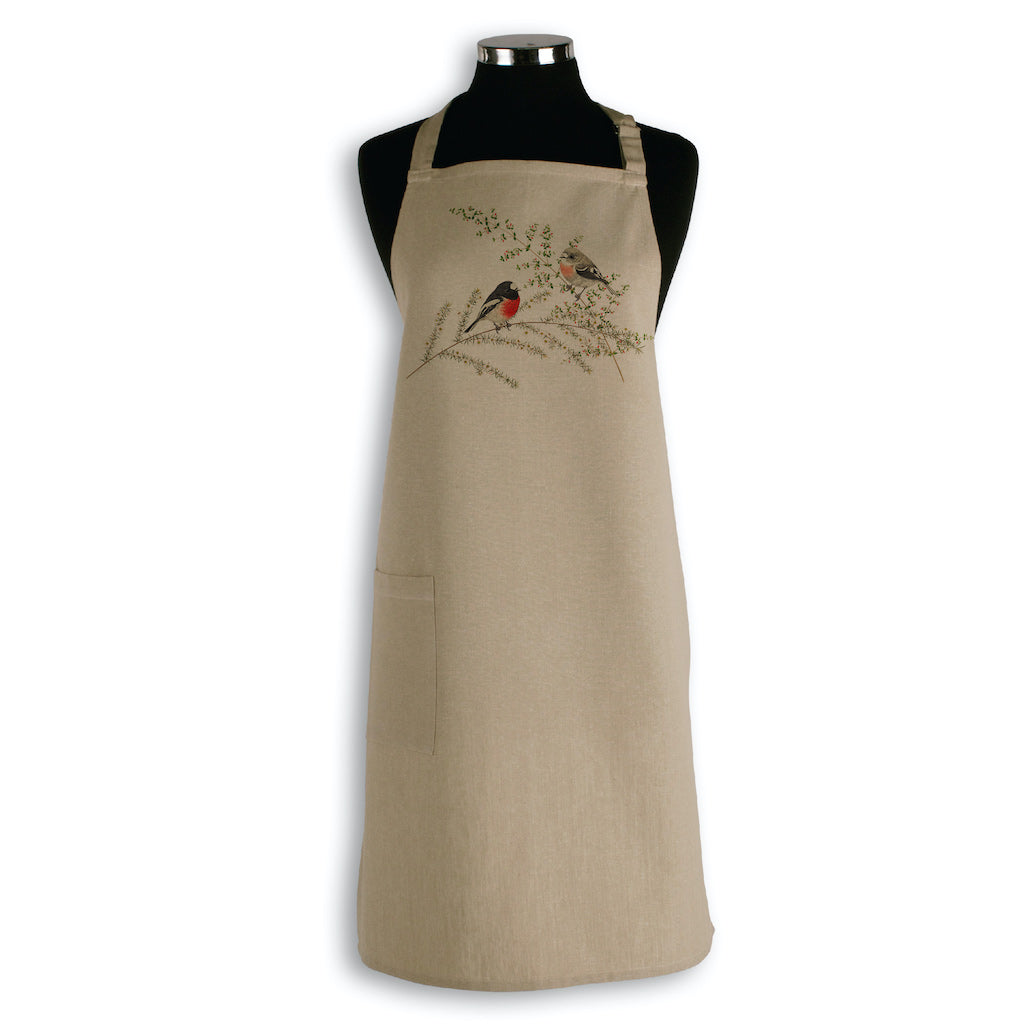 Linen Press Apron Beige Meg Wells (Organic Cotton) Teros