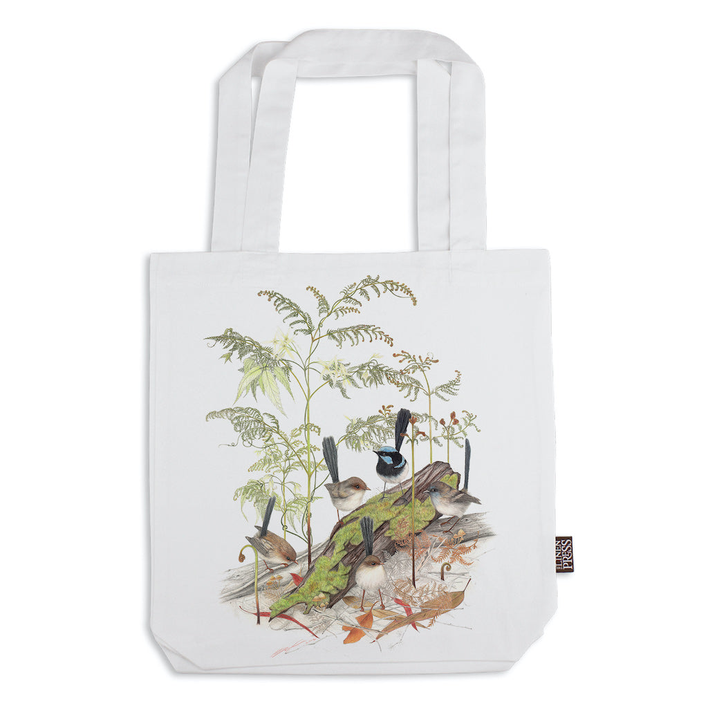 Linen Press Tote Bag White Meg Wells (Organic Cotton) Teros