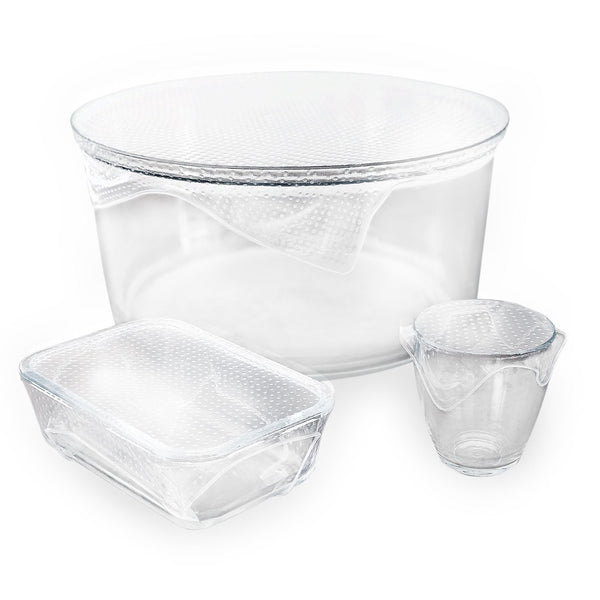Seed & Sprout Reusable Clear Silicon Food Wraps (3 Pack)