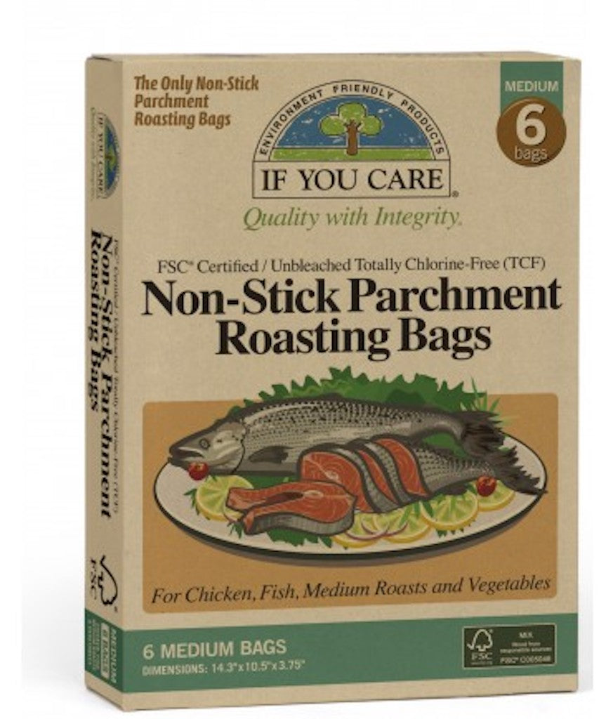 If You Care Non Stick Parchment Roasting Bags (36 cm x 26 cm x 9 cm) (6 Pack) Teros