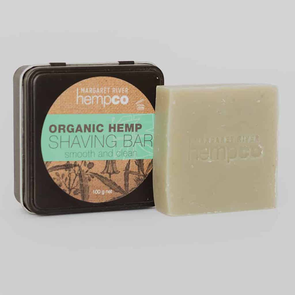 Margaret River Hemp Co Organic Hemp Shaving Bar in a Tin 100 g Teros