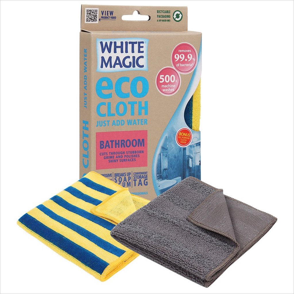 White Magic Bathroom Cleaning Eco Cloth