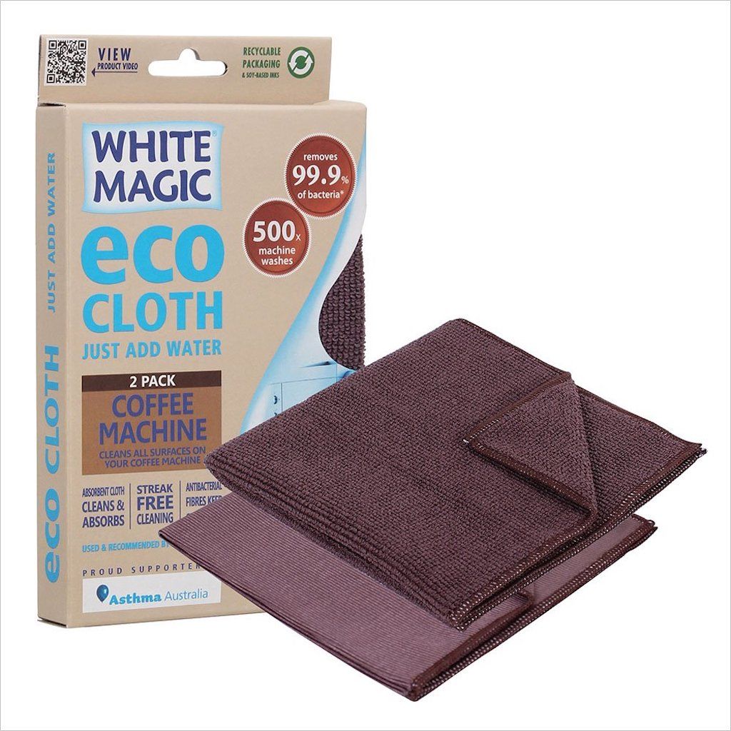 White Magic Coffee Machine Cleaning Eco Cloth