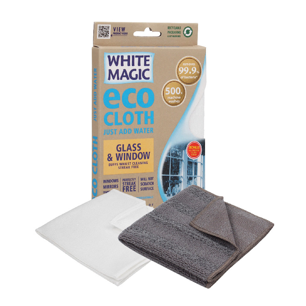 White Magic Window and Glass Cleaning Eco Cloth