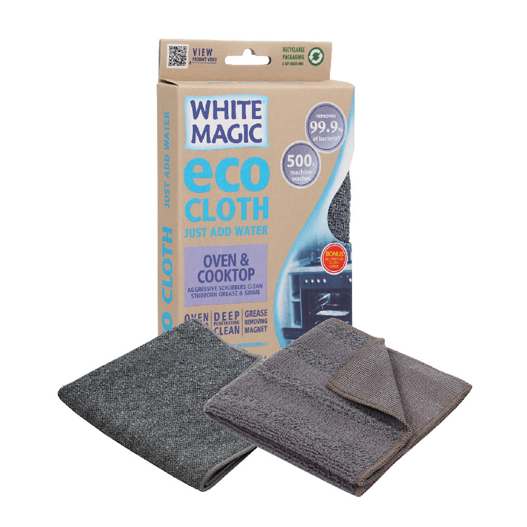 White Magic Oven and Cooktop Cleaning Eco Cloth