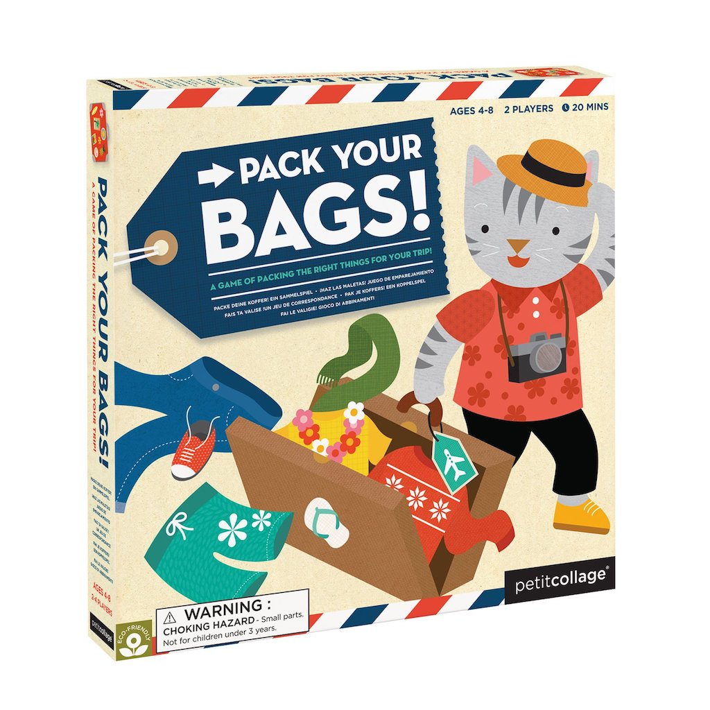 Petit Collage Pack Your Bags Board Game