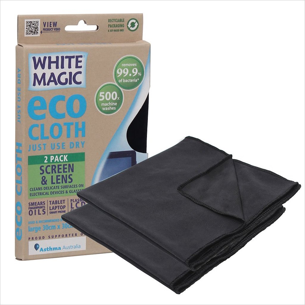 White Magic Screen and Lens Cleaning Eco Cloth