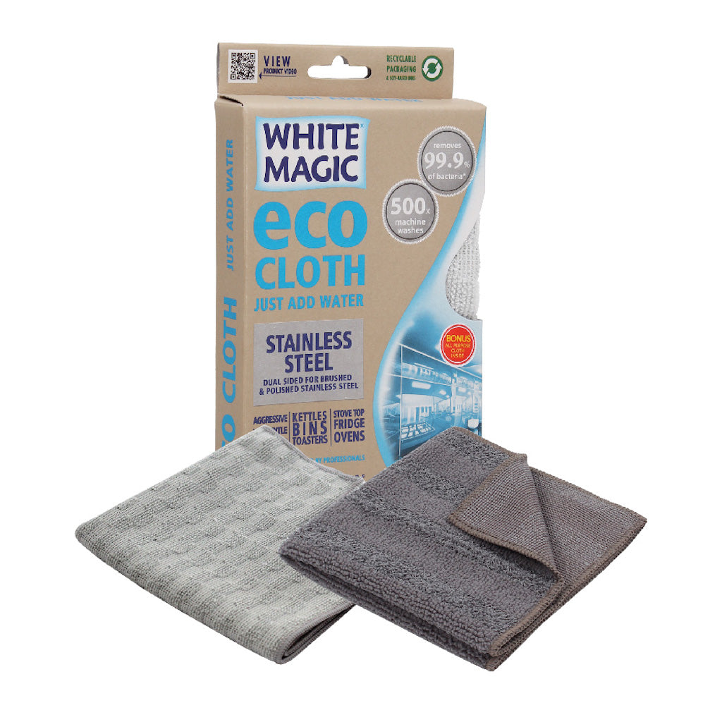 White Magic Bathroom Stainless Steel Eco Cloth