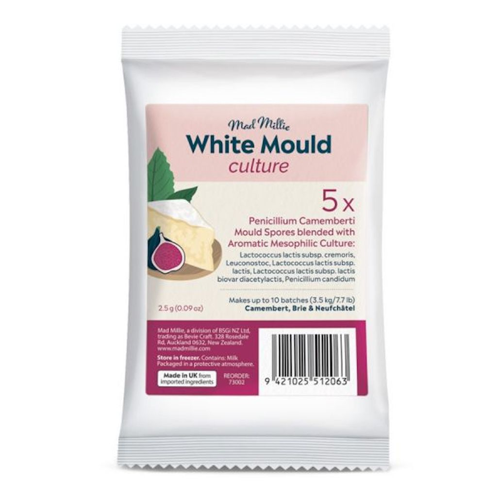 Mad Millie White Mould Cheese Culture (5 Pack)