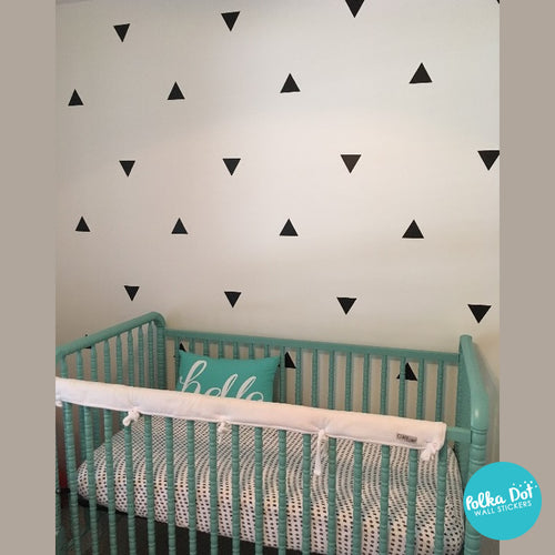 ... Black Triangle Wall Decals By Polka Dot Wall Stickers ...