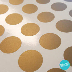 Mini Pack - One Inch Vinyl Polka Dot Stickers