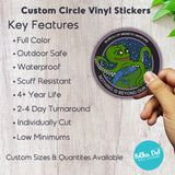 Custom Circle Vinyl Stickers - Gloss or Matte Finish