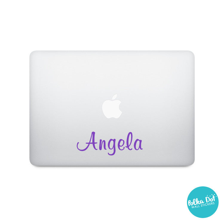 Ari's Script Custom Name or Word Laptop Stickers