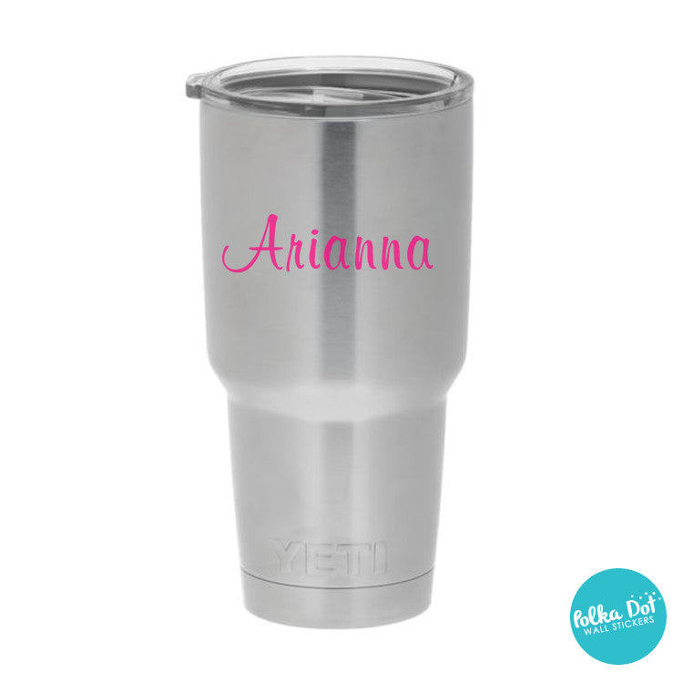 Ari's Script Custom Name or Word Mug Stickers