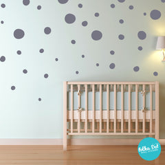 Hand Drawn Vinyl Polka Dot Wall Decals by Polka Dot Wall Stickers