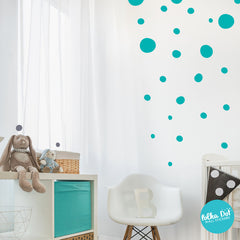 Hand Drawn Polka Dot Wall Decals by Polka Dot Wall Stickers