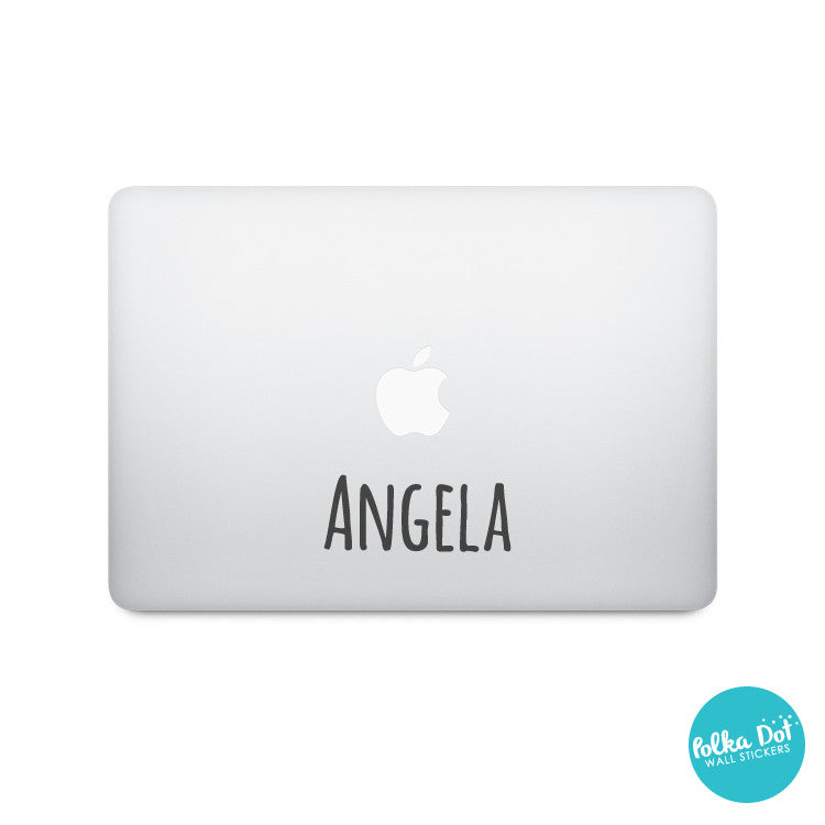 Silly Print Custom Name or Word Laptop Stickers
