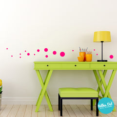 Small Polka Dot Wall Decals by Polka Dot Wall Stickers