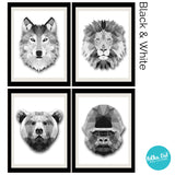 Four Kings Animal Wall Decals