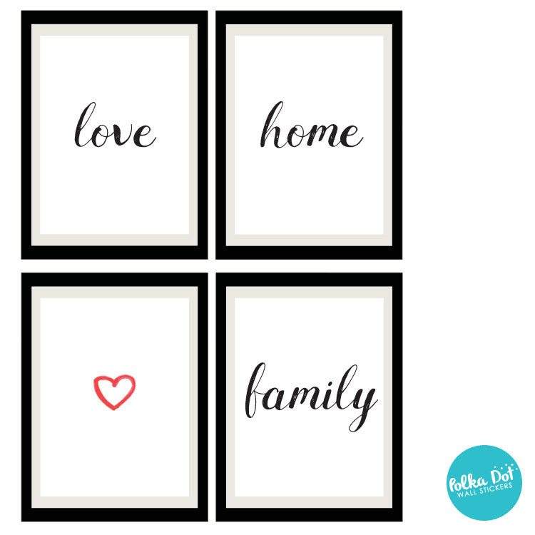Framely - love home family Wall Decals