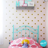 Metallic Gold polka dot wall decals by Polka Dot Wall Stickers