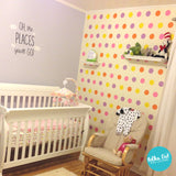 4 inch Polka Dot Wall Decals by Polka Dot Wall Stickers