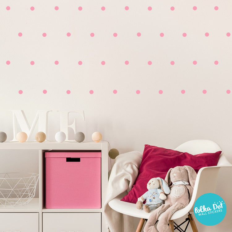 One inch Polka Dot Wall Decals by Polka Dot Wall Stickers
