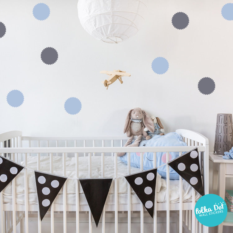 Polka Dot Wall Stickers Apartment Safe And Easy To Use