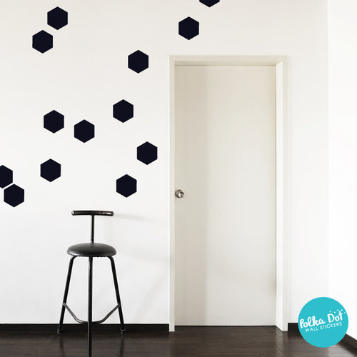 Hexagon Wall Decals Easy To Apply Wall Decals Polka Dot Wall - Wall decals polka dots