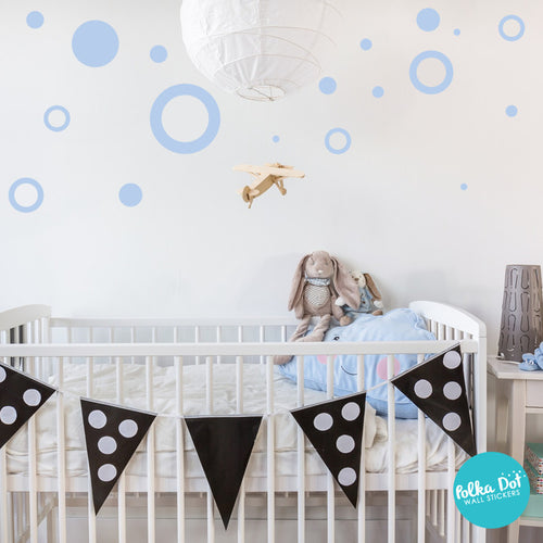 Assorted Size Polka Dots And Ring Wall Decals Polka Dot Wall - Wall decals polka dots