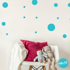 23 Assorted Polka Dot Wall Decals by Polka Dot Wall Stickers