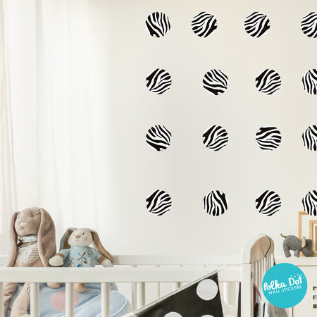 Zebra Pattern Polka Dot Wall Decals by Polka Dot Wall Stickers