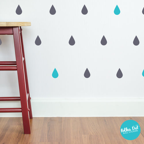 Rain Drop Wall Decals by Polka Dot Wall Stickers