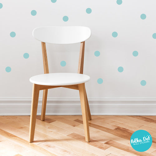 Light Aqua Polka Dot Wall Decals