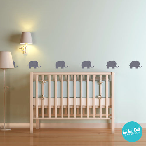 Cute Elephant Wall Decals Apartment Safe Polka Dot Wall Stickers - Elephant wall decals
