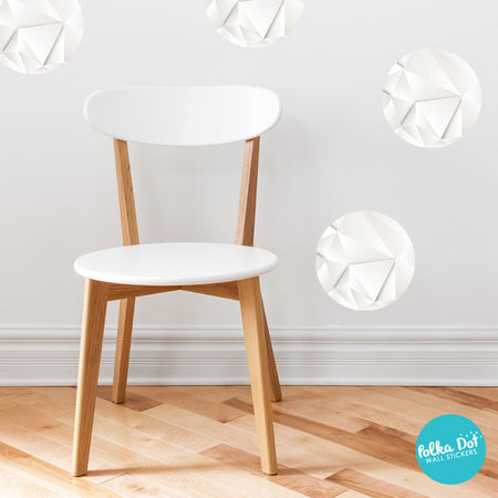 White Diamond Polka Dot Wall Decals