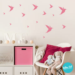 Hummingbird wall decals by Polka Dot Wall Stickers