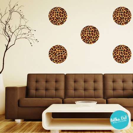 Leopard Pattern Polka Dot Wall Decals by Polka Dot Wall Stickers