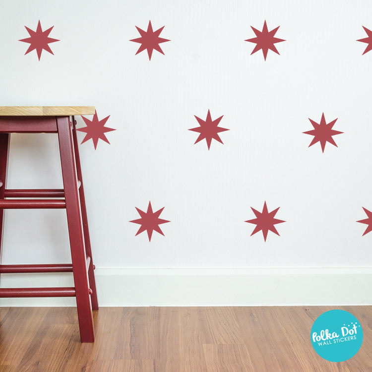 8 Point Star Wall Decals By Polka Dot Wall Stickers ...