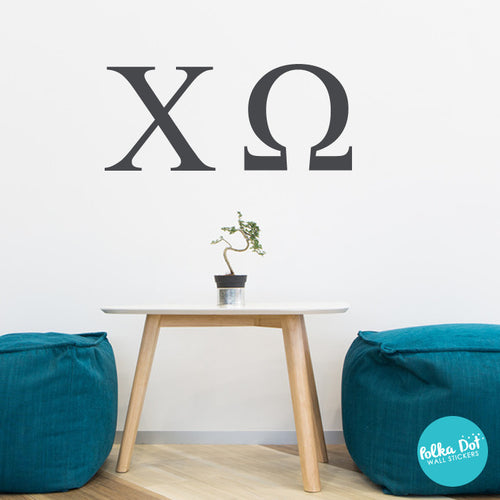 ... Chi Omega Wall Decals By Polka Dot Wall Stickers; Greek Letter ... Part 71