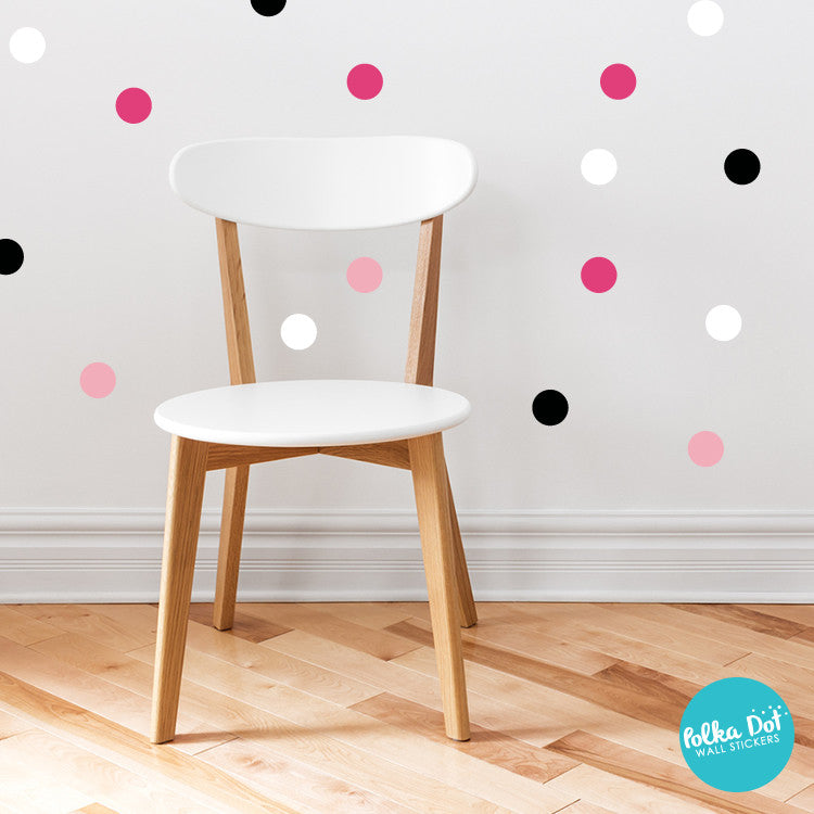 Shades of minnie mouse polka dot wall decals peel and for How to make polka dots on wall