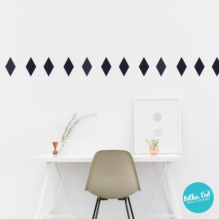 Rhombus Diamond Wall Decals