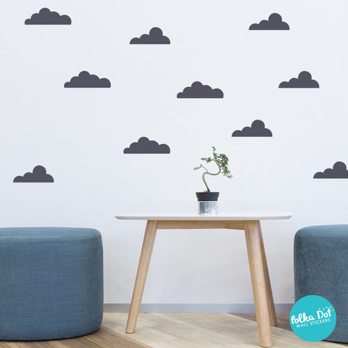floating cloud wall decals | peel and stick – polka dot wall stickers