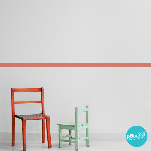 ... Simple Stripe Border Wall Decals