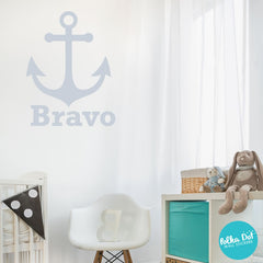 Anchor Monogram Wall Decal