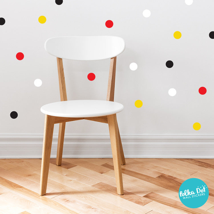 Shades of Mickey Mouse Polka Dot Wall Decals by Polka Dot Wall Stickers.