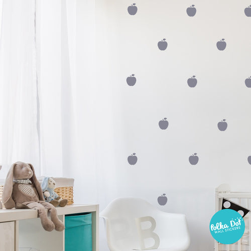 cute apple wall decals | peel and stick & apartment safe – polka dot