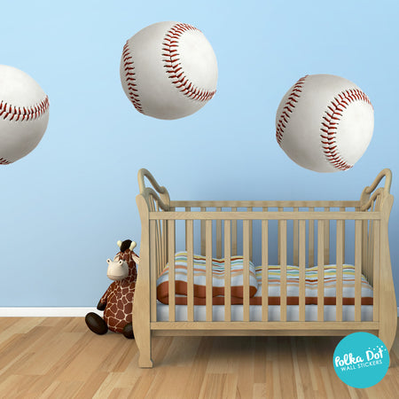 Baseball Wall Decals By Polka Dot Stickers