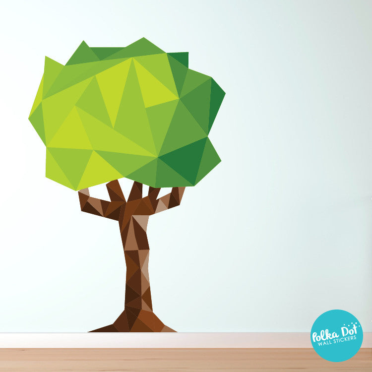 Polygonal Tree Wall Decals